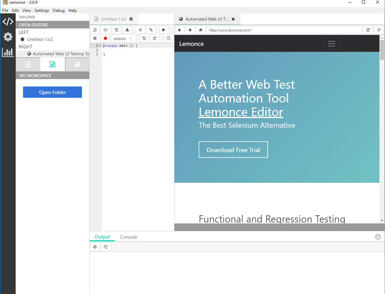 Automation Testing Tools for Web Applications - Lemonce Editor ...